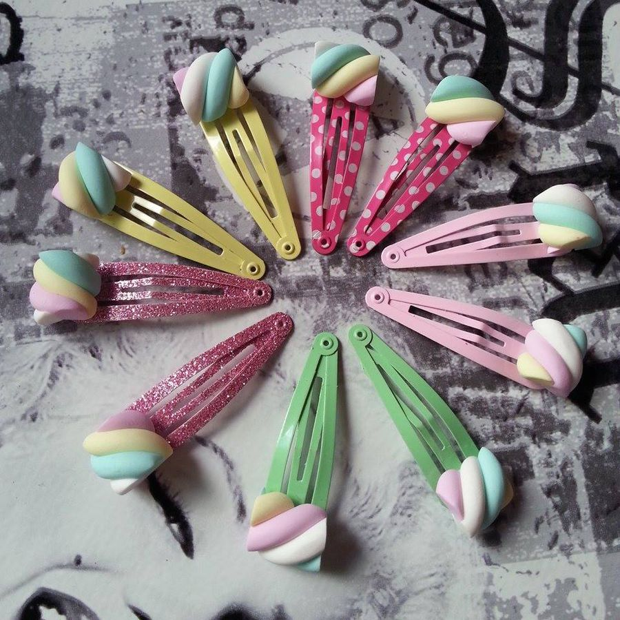 Marshmallow Multicolor 2-pack, hairclip