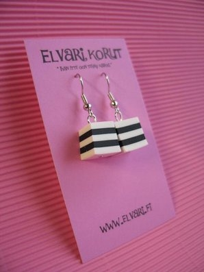 Allsorts Black&White, drop earrings