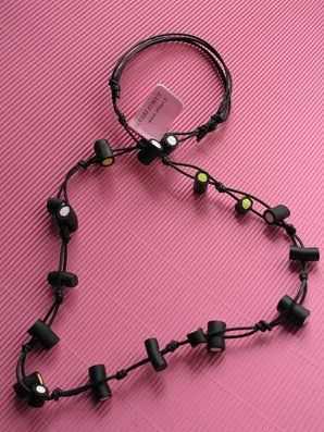 Filled Liquorice, necklace