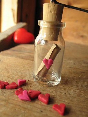 LoveLetter In a Jar, pendant