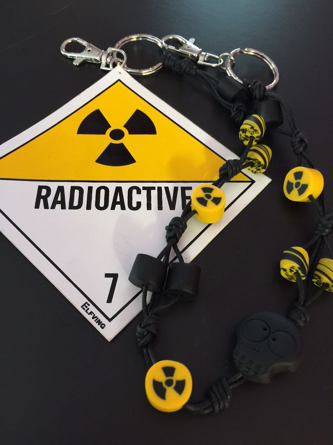 Radioactive! Short, cotton cord lanyard