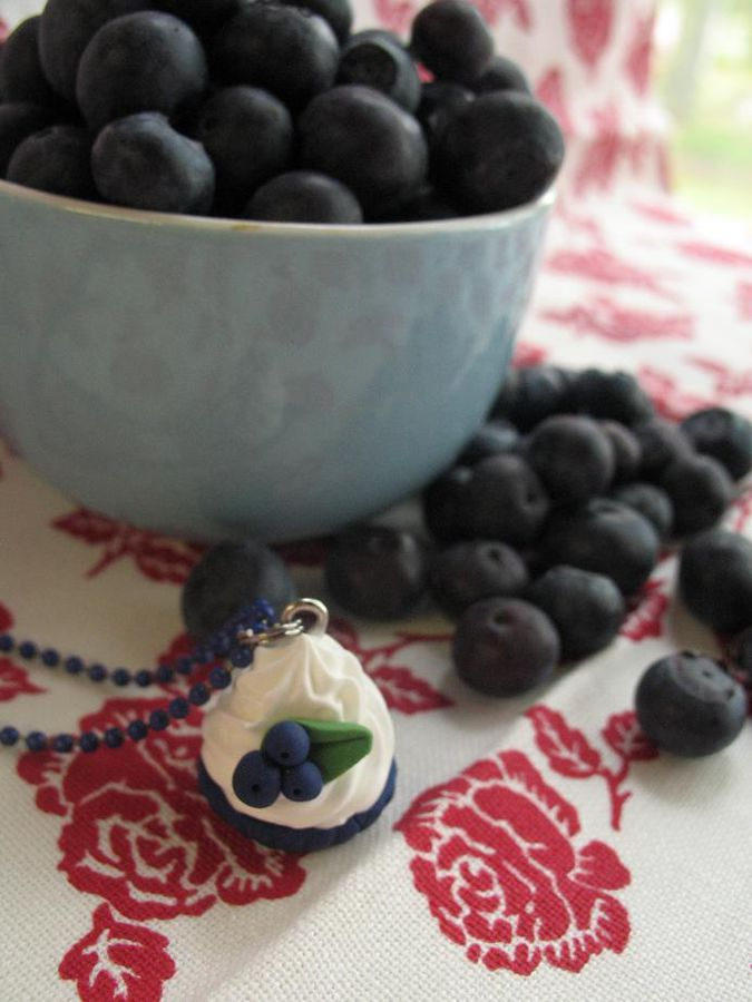 CupCake Blueberry, pendant