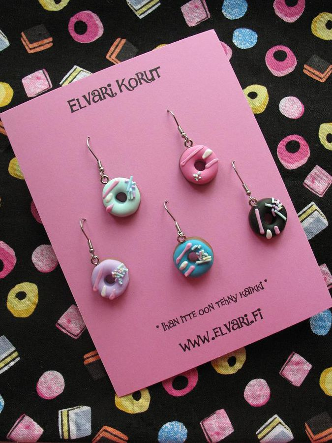 GoodyBag Donut, drop earrings