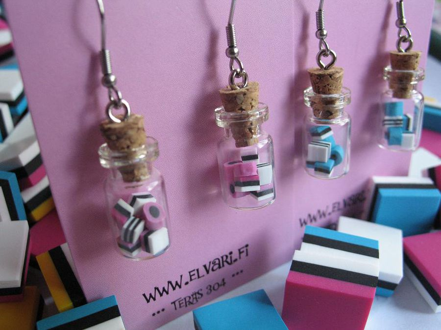 Allsorts In a Jar, drop earrings