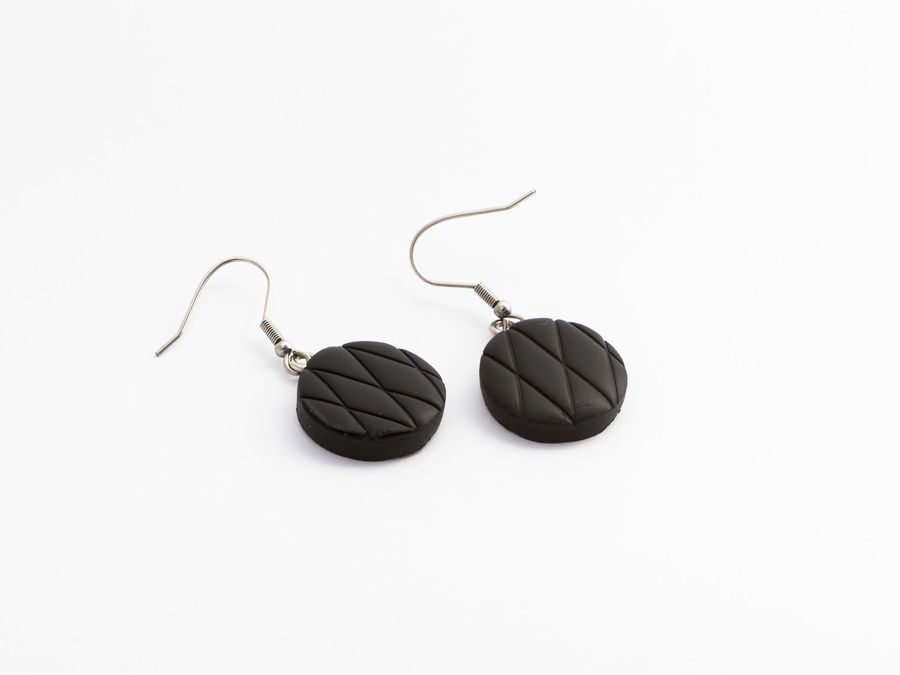 Salmiakki Super, drop earrings