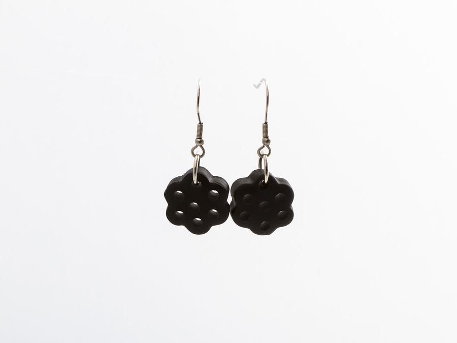 Lakuliini Licorice, drop earrings
