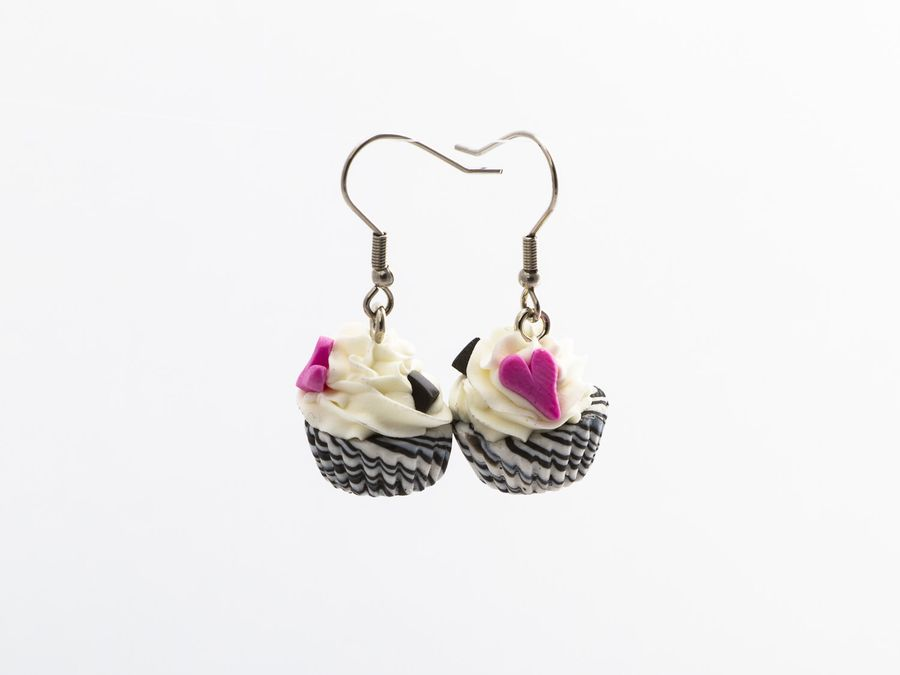 CupCake Salmiakki, drop earrings