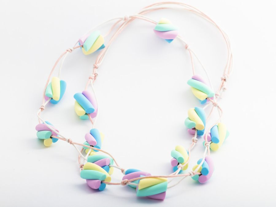 Marshmallow, necklace