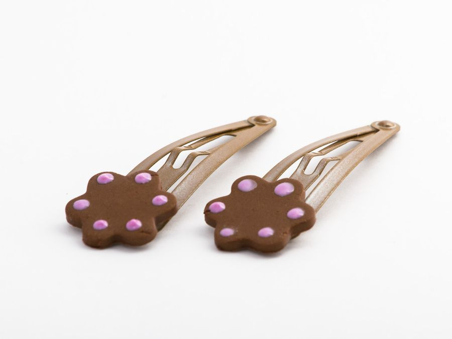 Gingerbread 2-pack, hairclip