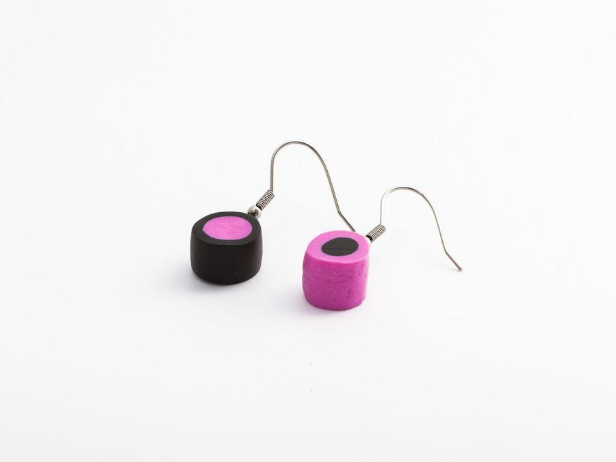 Filled Liquorice Mix, drop earrings