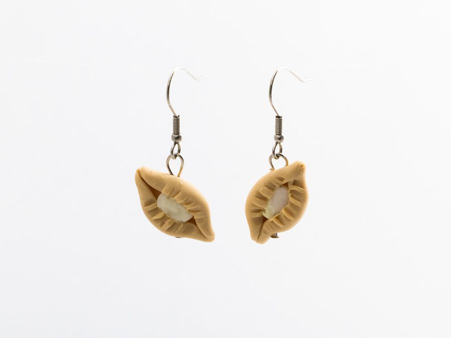 Karelian Pasty, drop earrings