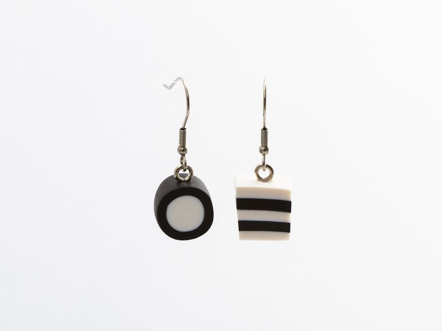 Allsorts Mix Black&White, drop earrings